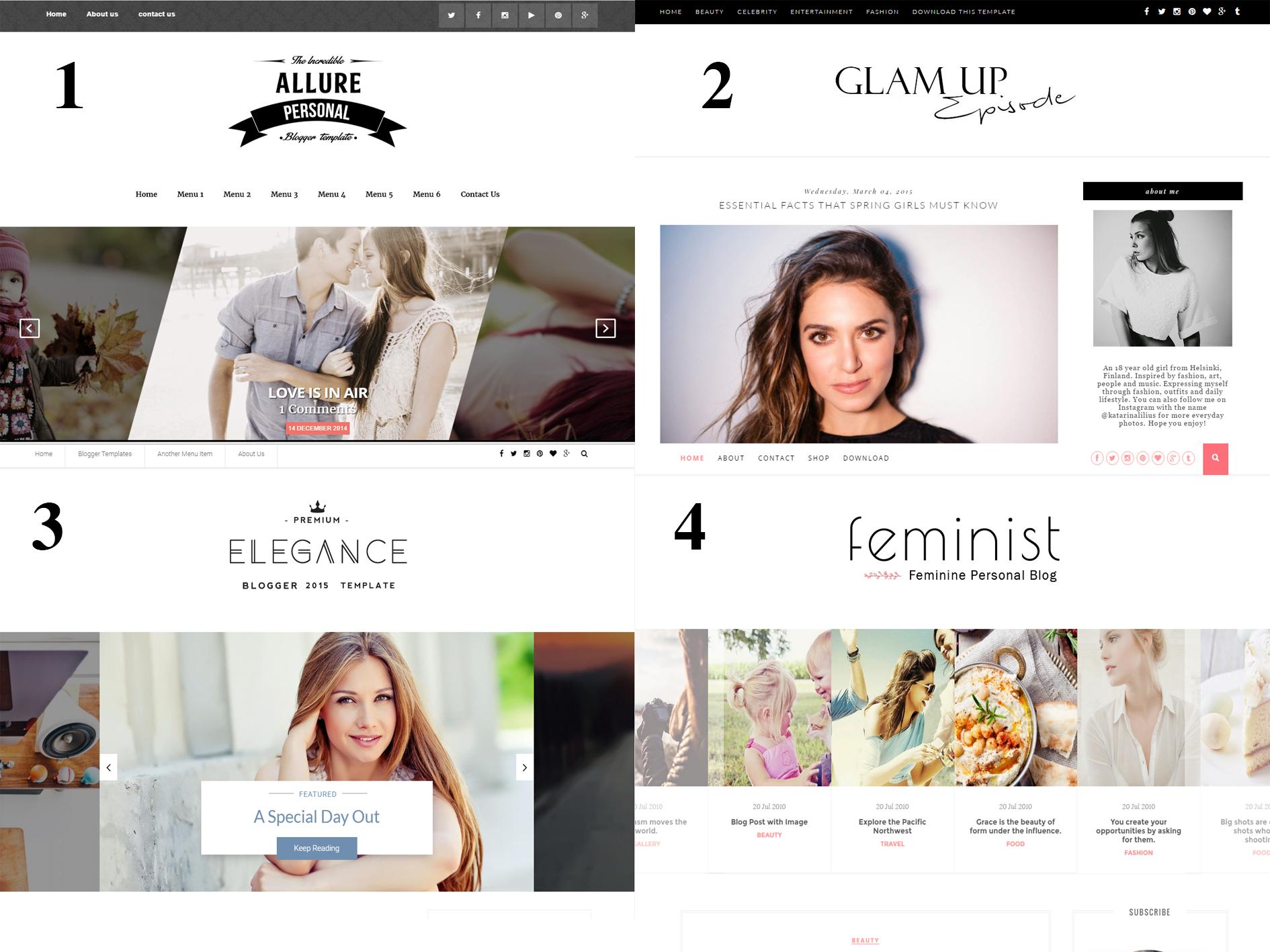template free para blogger